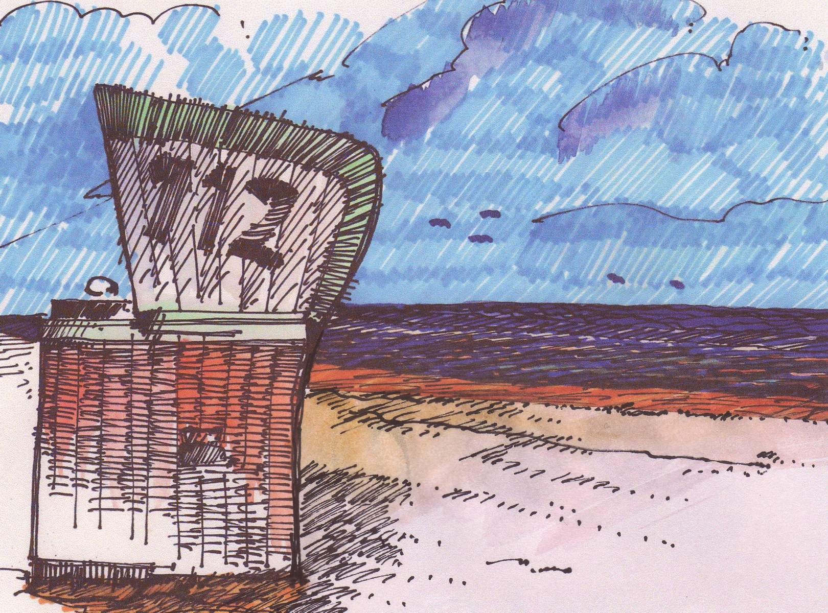 Strandkorb skizze  Skizze | ARCH BLOG