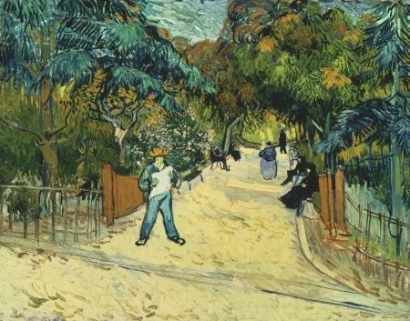 Eingang zum Park in Arles, 1888