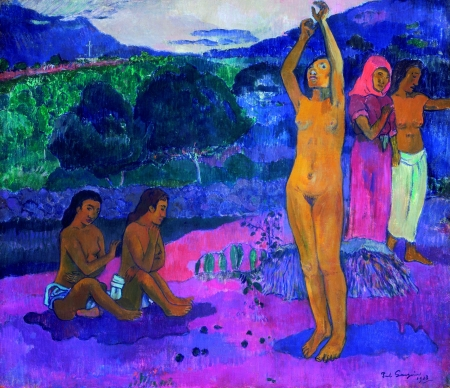 Paul Gauguin, L'invocation, Öl auf Leinwand, 1903