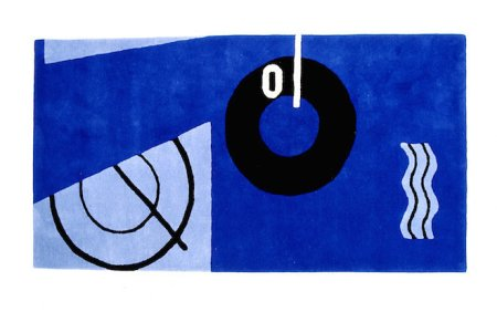 The Blue Marine Rug Eileen Gray designed for E.1027. Courtesy Aram.